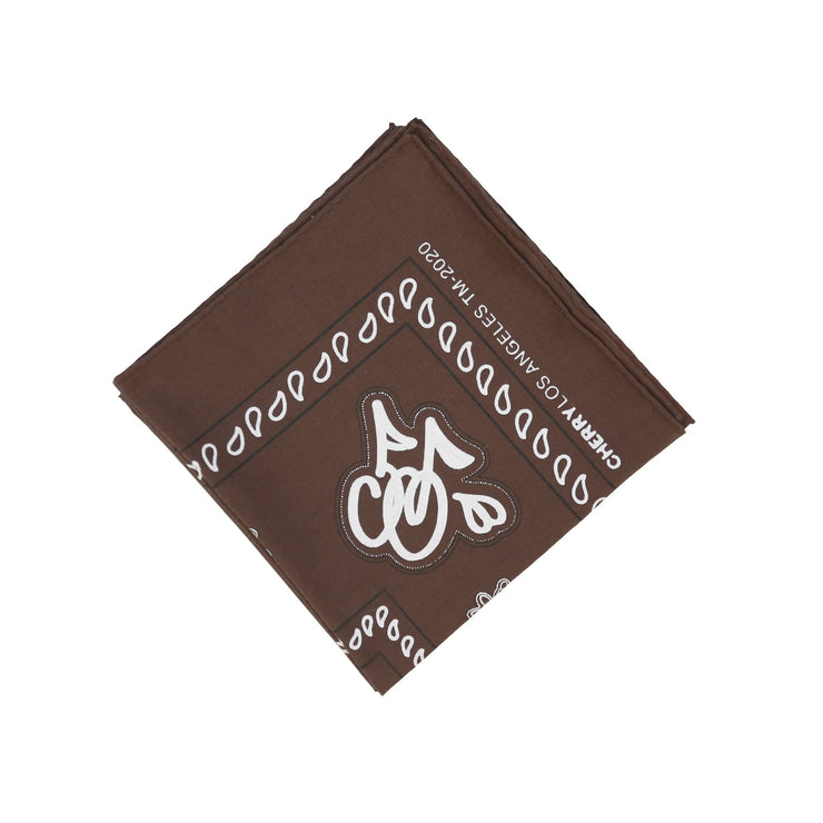 CHERRY BANDANA (BROWN)