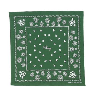 CHERRY BANDANA (GREEN)