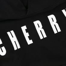 Load image into Gallery viewer, CHERRY EMBROIDERED HOODIE (JETT BLACK)