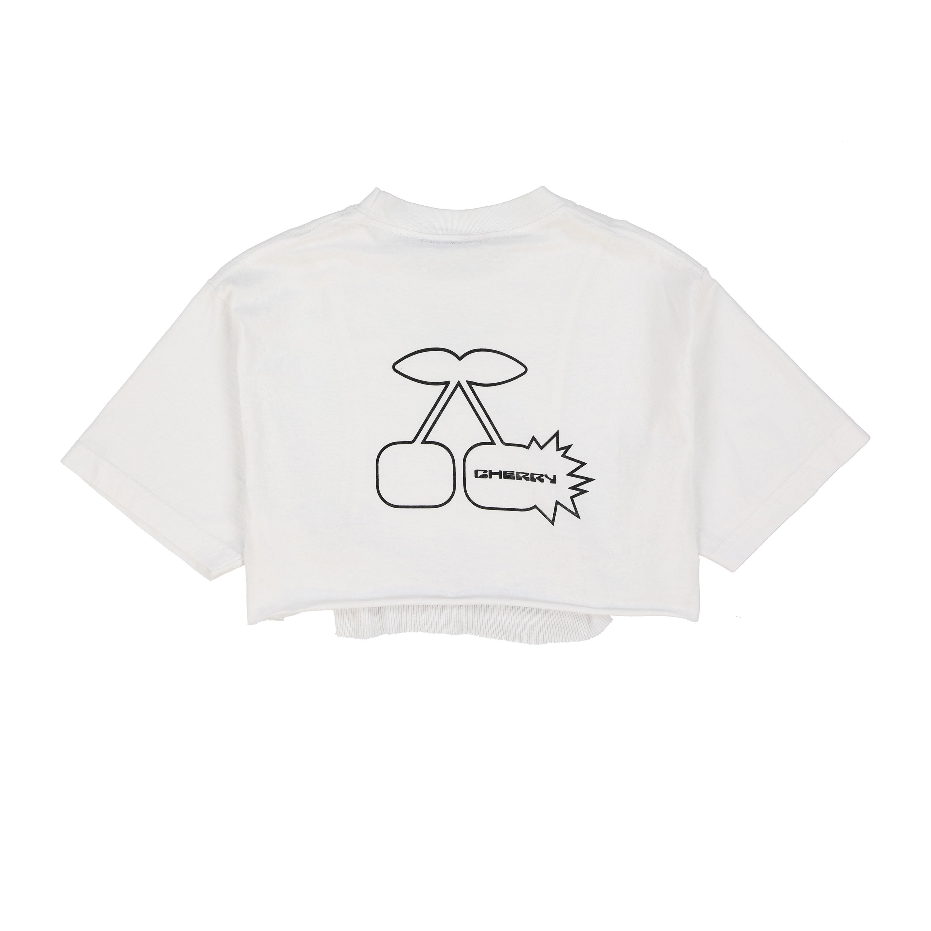 CHERRY BOMB CROP T-SHIRT (PURE WHITE)