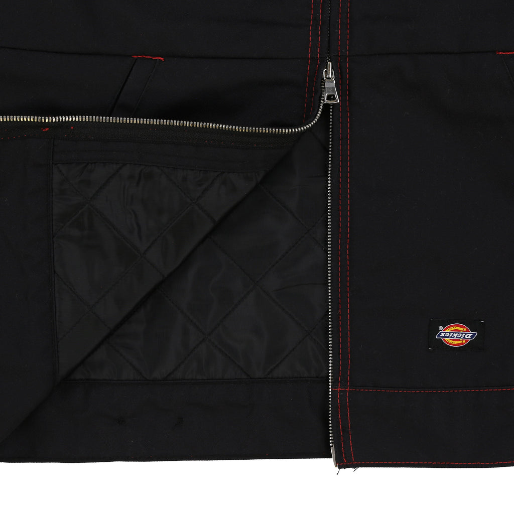 CHERRY X DICKIES CROPPED WORK JACKET (BLACK & RED)