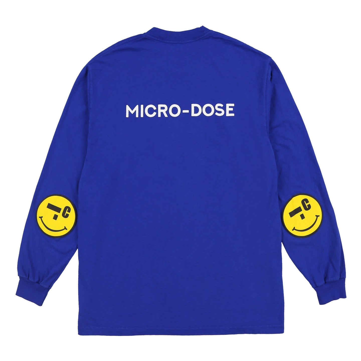 MICRO-SMILEY L/S T-SHIRT (COBALT BLUE)