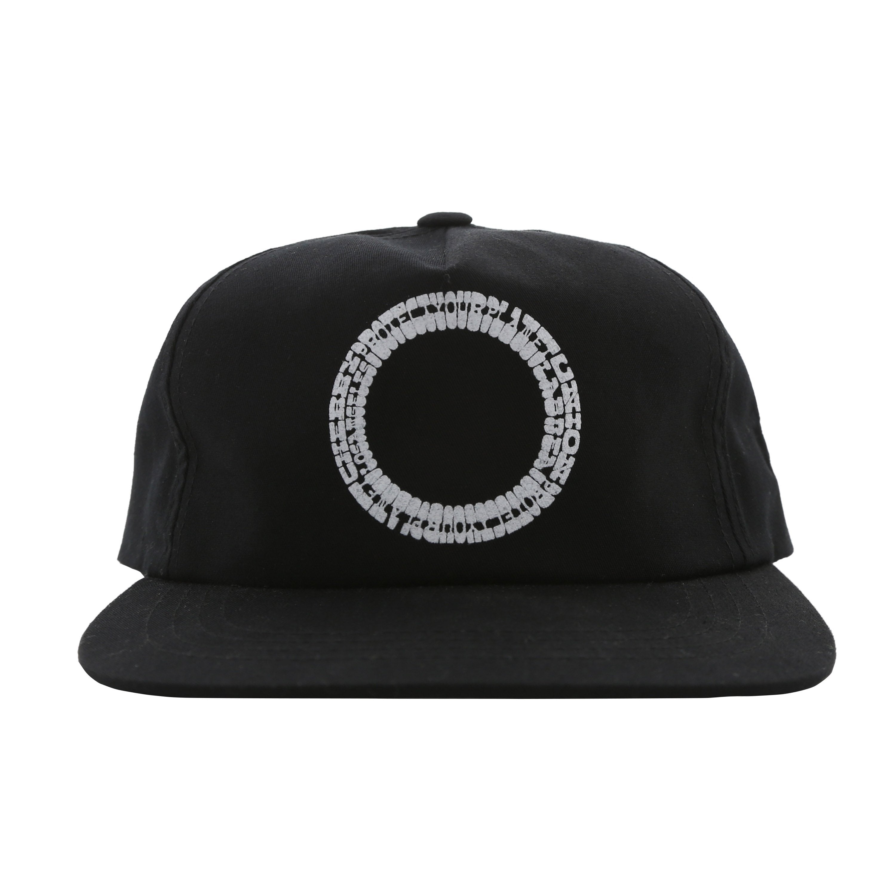 PYP SNAP BACK HAT (BLACK & WHITE)