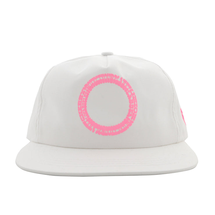 PYP SNAP BACK HAT (WHITE & PINK)