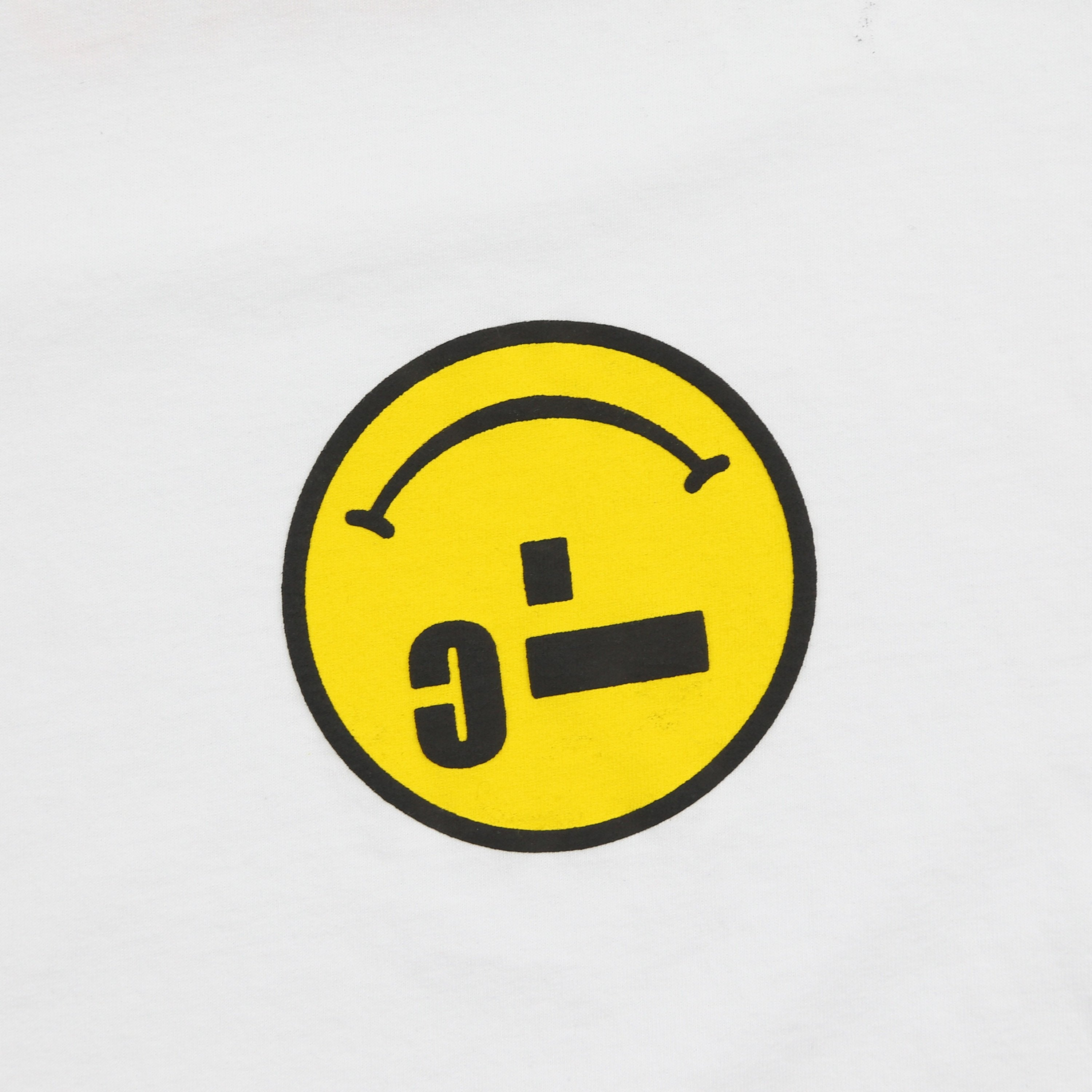 MICRO-SMILEY L/S T-SHIRT (PURE WHITE)