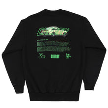 Load image into Gallery viewer, STOLE MY POPS PORSCHE CREWNECK (BLACK w/ KIWI)