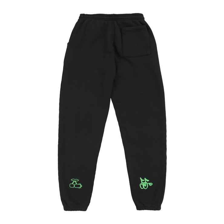 STOLE MY POPS PORSCHE SWEATPANTS (BLACK & KIWI)