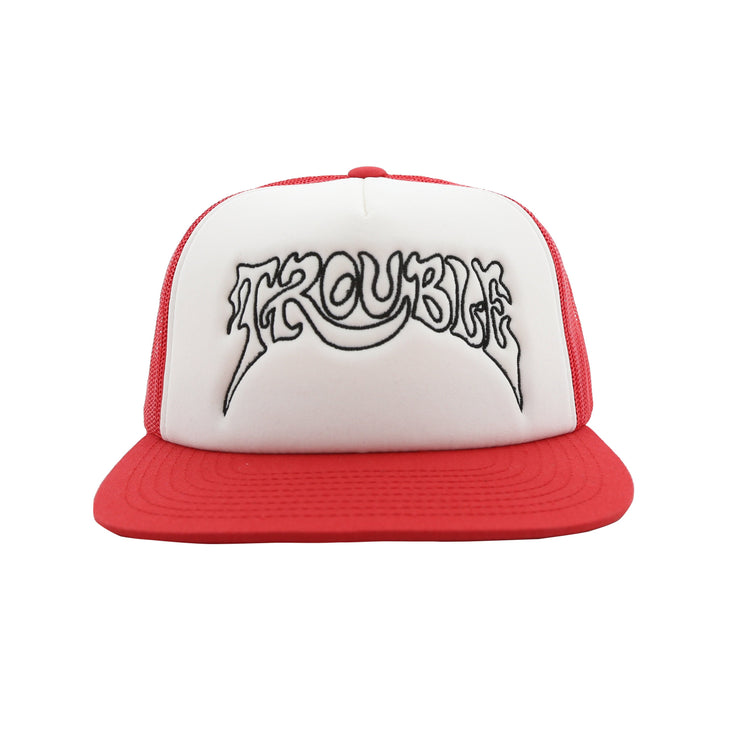 TROUBLE TRUCKER HAT (RED & WHITE)