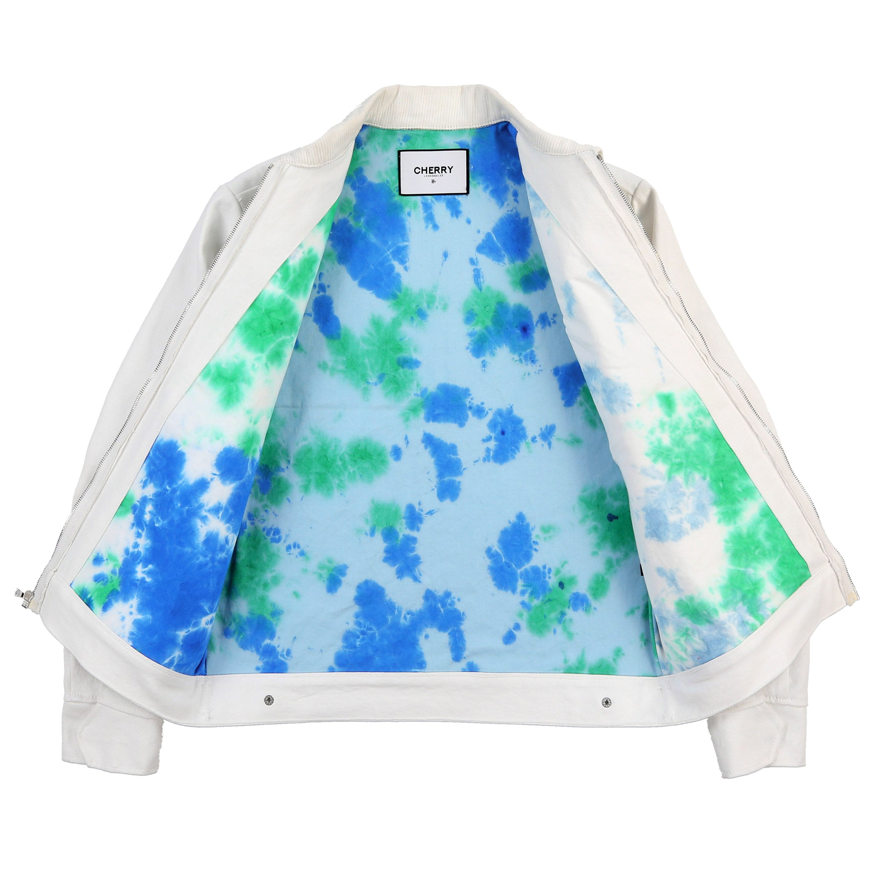 CH1 WORK JACKET (WHITE & EARTH TIE DYE)