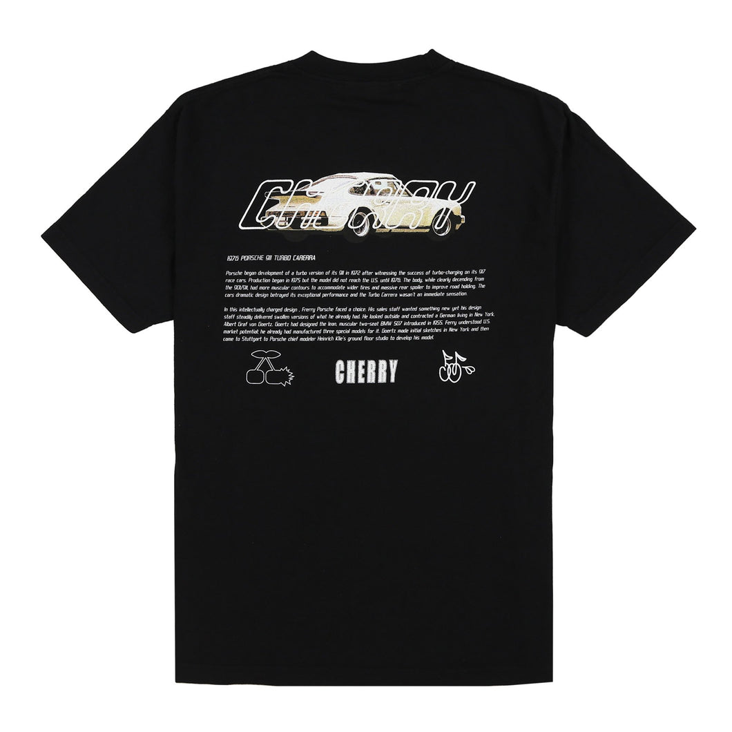 STOLE MY POPS PORSCHE T-SHIRT (RUBBER BLACK)