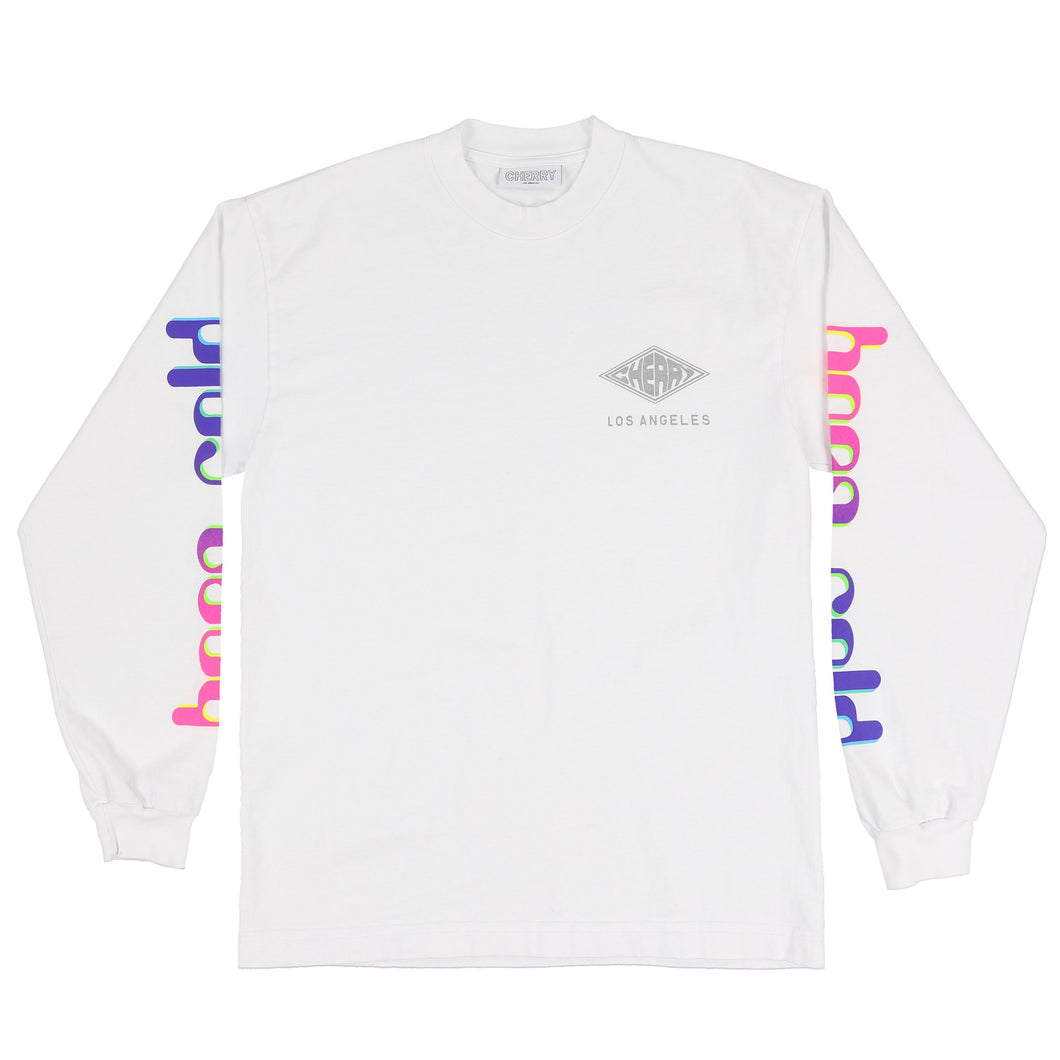 BORN COLD L/S T-SHIRT (PURE WHITE)