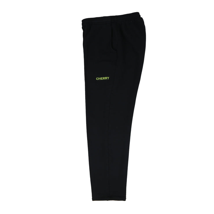 PIN-TUCK SWEATS (JETT BLACK & NEON YELLOW)