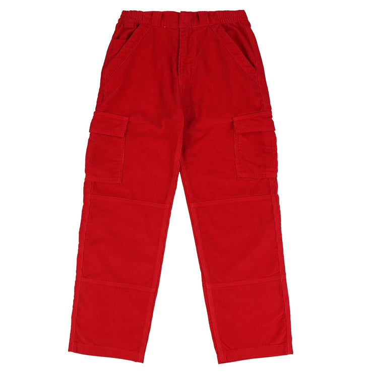 CORDUROY CARGO PANTS (CHERRY RED)