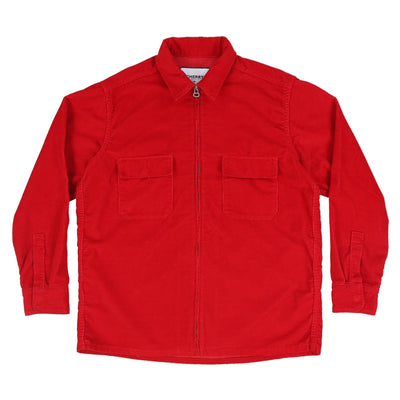 CORDUROY SHIRT JACKET (CHERRY RED)