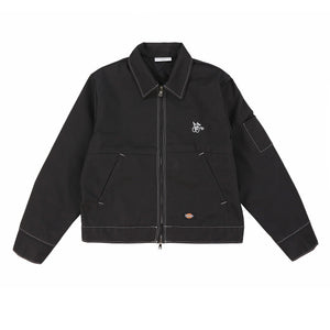 CHERRY X DICKIES WORK JACKET (BLACK & WHITE)