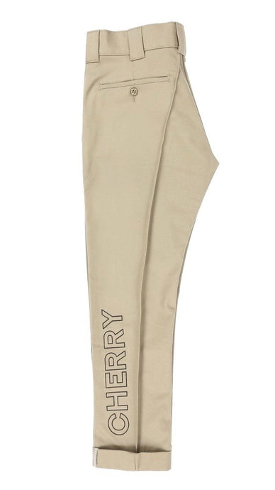 CHERRY X DICKIES SLIM WORK PANT (TAN)
