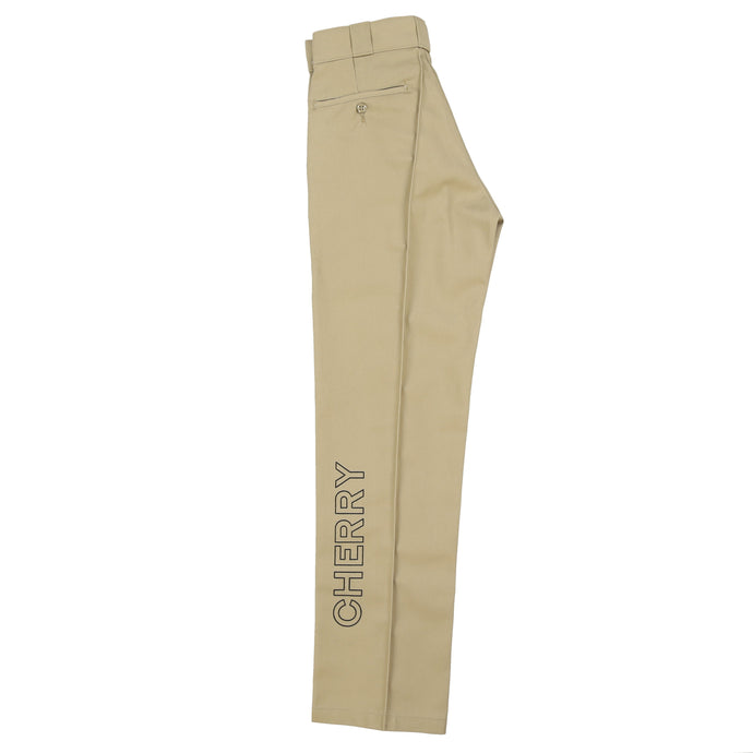 CHERRY X DICKIES STRAIGHT LEG WORK PANT (TAN)