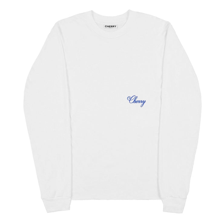 AMERICAN CLASSIC LONG SLEEVE T-SHIRT (VINTAGE WHITE & BLUE)