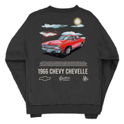 Cherry Chevelle Malibu Crewneck Sweatshirt (+2 TICKET) (OFF BLACK)