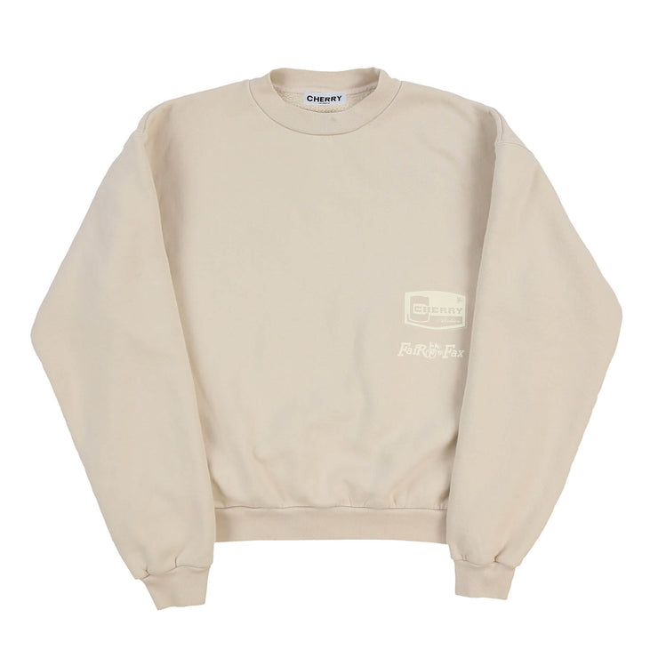AUTO SHOP CREWNECK SWEATSHIRT (NATURAL)