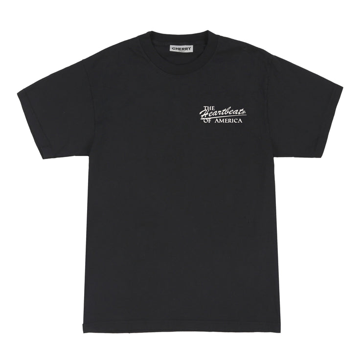 HEARTBEAT T-SHIRT (OFF BLACK)