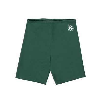 LOGO BIKER SHORTS (HUNTER GREEN)