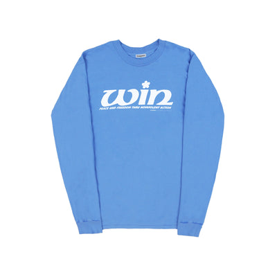 WIN LONG SLEEVE T-SHIRT (BLUE CRUSH)