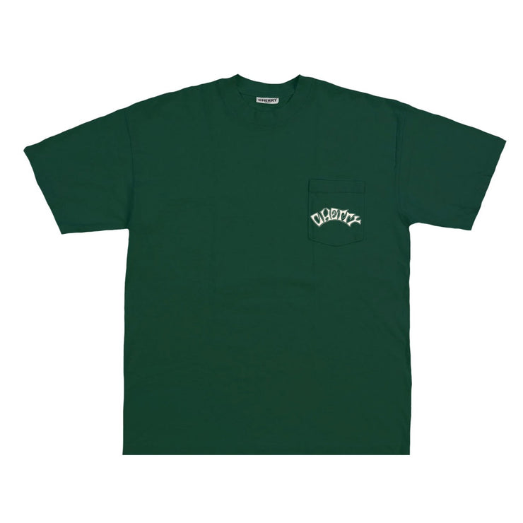 RACING TIRES POCKET T-SHIRT (HUNTER GREEN)