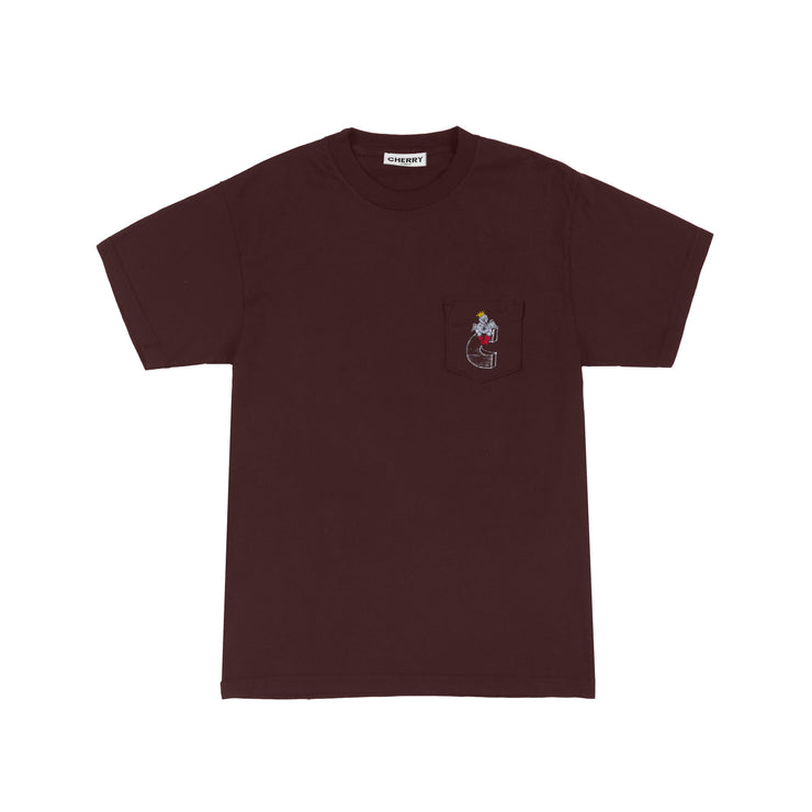 LOVE HOTEL POCKET T-SHIRT (ESPRESSO)
