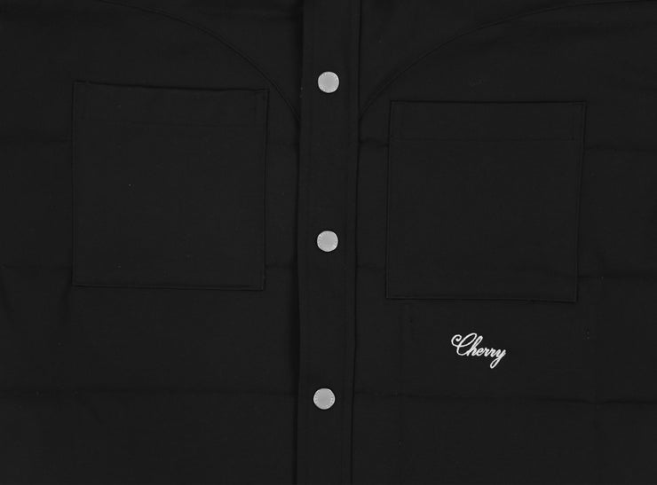 CHINO TWILL DOWN SHIRT JACKET (BLACK)