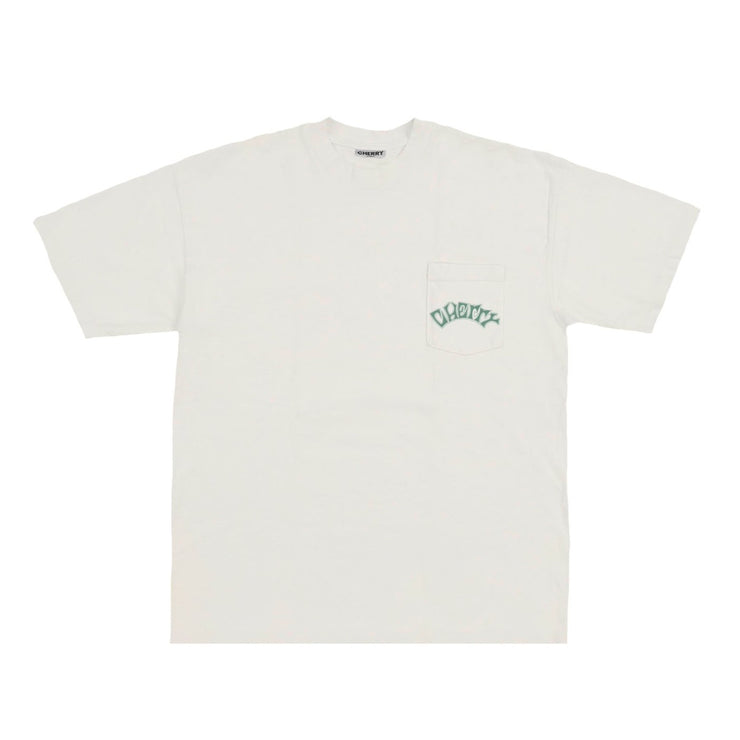 RACING TIRES POCKET T-SHIRT (CREAM)
