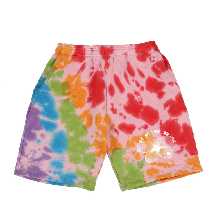 BLOSSOM SWEAT SHORTS (FRUITY PEBBLES TIE DYE)