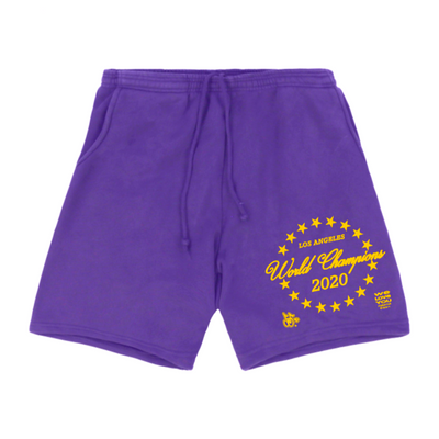 CHAMPIONSHIP SWEAT SHORTS (LAKER PURPLE)