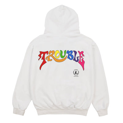 TROUBLE HOODIE (PURE WHITE)