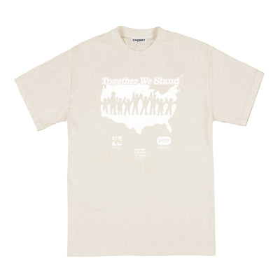 """TOGETHER WE STAND"" T-SHIRT (BONE)"