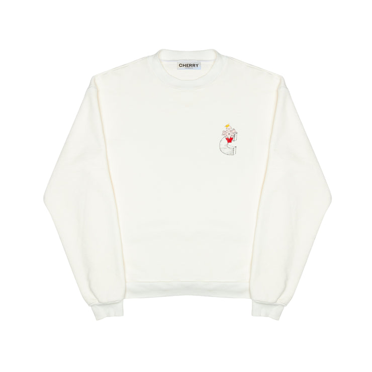 Valentine's Day CREWNECK SWEATSHIRT (CREAM)