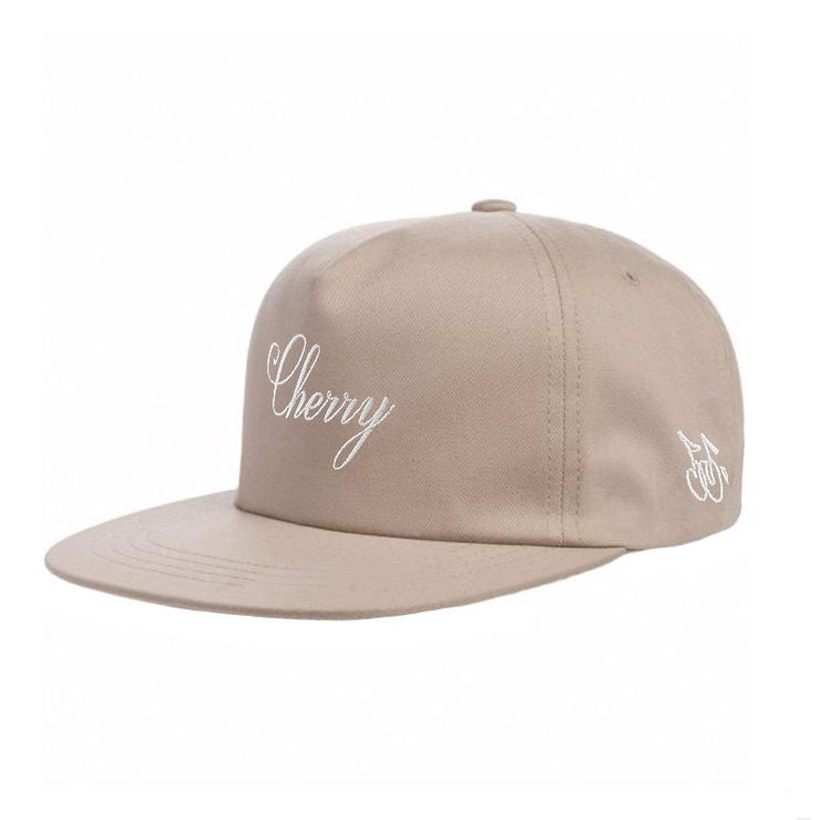 AMERICAN CLASSIC SNAP BACK HAT (BEIGE & WHITE)