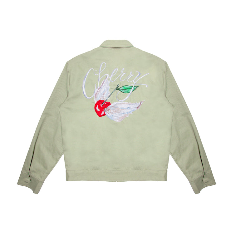 CHINO TWILL CLUB JACKET (SAGE)