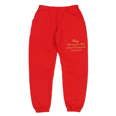 ODD ONES OUT SWEAT PANTS (CHERRY RED)
