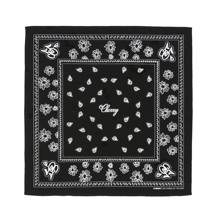 CHERRY BANDANA (BLACK)