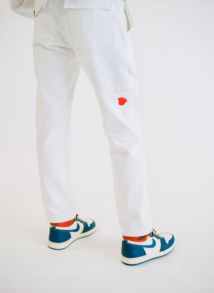 CLA1 WORK PANTS (WHITE & EARTH TIE DIE)