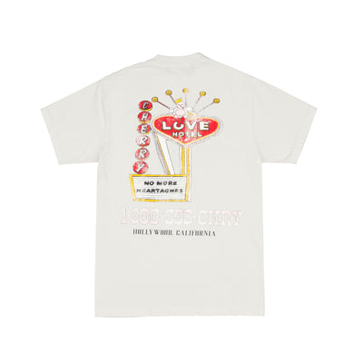 LOVE HOTEL POCKET T-SHIRT (CREAM)