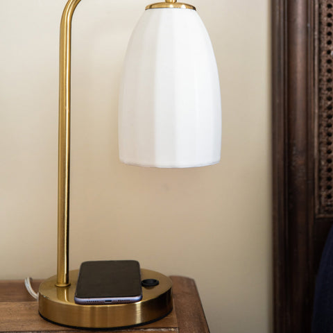 Table Lamp with Wireless Charger