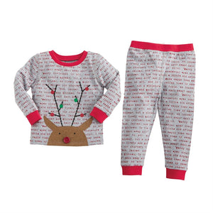 Rudolph Boy Pajamas-Pajamas-Paris Pink & Cowboy Blue Baby Boutique