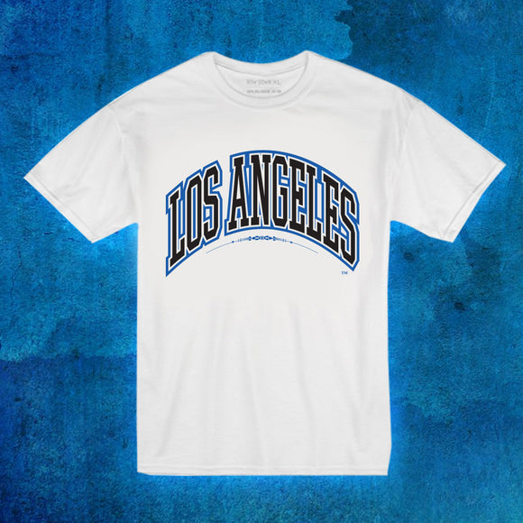 Los Angeles Block Lettering - Blue