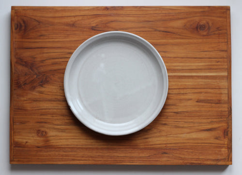 Pie Baking Dish in Stoneware White