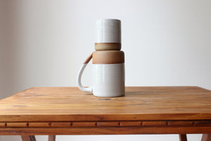 Child's Cup in Stoneware White