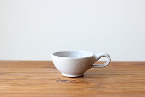 Latte Cup in Stoneware White - Limited Availability