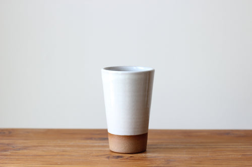 Pint Glass in Stoneware White