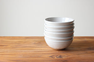 Ice Cream Bowls - Stoneware White